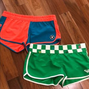 2 pairs board shorts - Roxanne and Hurley